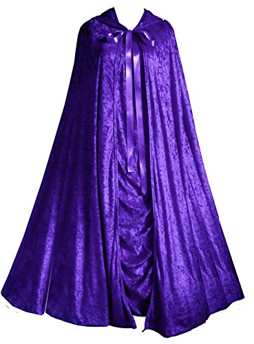Victorian Valentine Steampunk Gothic Vintage Inspired Women's Dress & Cape Purple