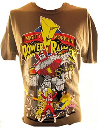 Mighty Morphin' Power Rangers Mens T-Shirt - MegaZoid in the City
