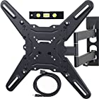 VideoSecu ML531BE TV Wall Mount for most 22-55 LED LCD Plasma Flat Screen - up to 88 lb VESA 400x400 mm with Full Motion Swivel Articulating Arm