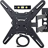 "VideoSecu ML531BE TV Wall Mount for most 22""-55"" LED LCD Plasma Flat Screen - up to 88 lb VESA 400x400 mm with Full Motion Swivel Articulating Arm, 20 in Extension, for Monitor (Black) WP5"