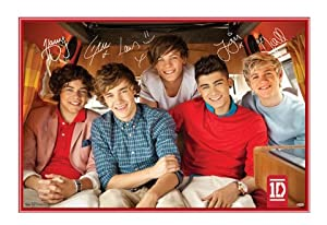 1d - One Direction - Framed Poster - Quality Red Metal Frame 34 X 22 by 123Posters