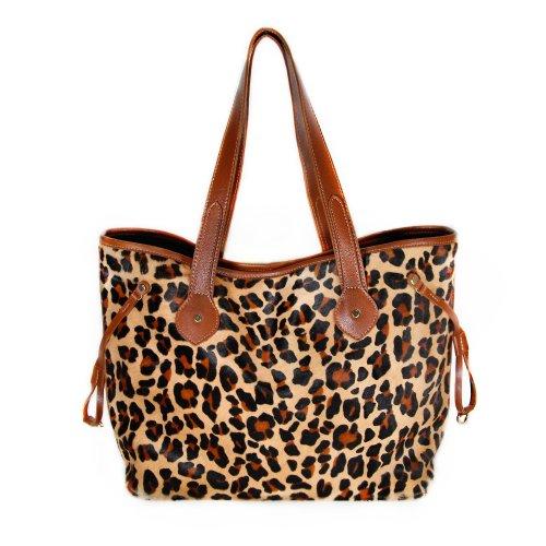 Mia Bossi Emma Diaper Bag, Leopard - 1