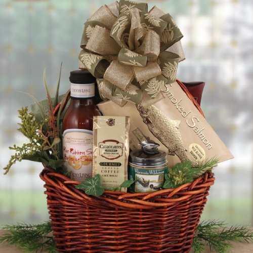 Summer Sausage And Smoked Salmon Men'S Gourmet Gift Basket For Him | Birthday Gift Idea