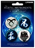 Posters: The Mortal Instruments, City Of Bones Badge Pack - 4 X 38mm Buttons (6 x 4 inches)