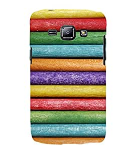 EPICCASE Colorful rolls Mobile Back Case Cover For Samsung Galaxy J1 (Designer Case)