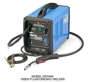 Clarke 190EN Mig/Fluxcore Welder Gas/No Gas 220V by Clarke