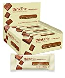 thinkThin Protein Bar, Brownie Crunch, Gluten Free, 2.1-Ounce Bars (Pack of 10)