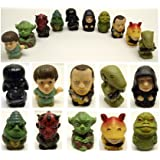 Star Wars 10 Piece Toy Bath Play Set Featuring Darth Vador, Darth Maul, Luke Skywalker, and Yoda