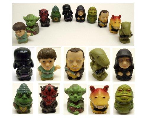 Star Wars 10 Piece Toy Bath Play Set Featuring Darth Vador, Darth Maul, Luke Skywalker, and Yoda