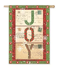 "Country Heritage Spirit of the Holidays Joy Christmas Garden Flag 12.5"" x 18"""