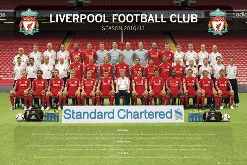 Liverpool FC Team Photo 2010/11 Maxi Poster 61×91.5cm