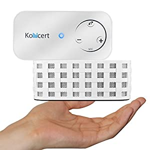KONCERT Portable NFC Bluetooth Wireless Speaker with Call Speakerphone System WHITE (Touch control, 6 watt Total, 1800mah Li-ion)