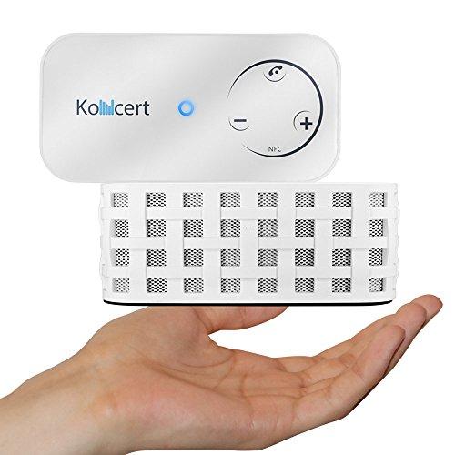 Koncert Portable Nfc Bluetooth Wireless Speaker With Call Speakerphone System White (Touch Control, 6 Watt Total, 1800Mah Li-Ion)