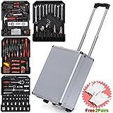 Yaheetech 399pcs Tool Set Case Mechanics Kit Box Organize Castors Toolbox Trolley