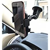 2 In 1 Mobile Phone Car Mount Holder, Adjustable 360 Degree Rotation, Universal Adjustable Windshield / Air Vent...