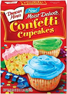 Duncan Hines Cupcake Mix Moist Deluxe Confetti - 12 Pack