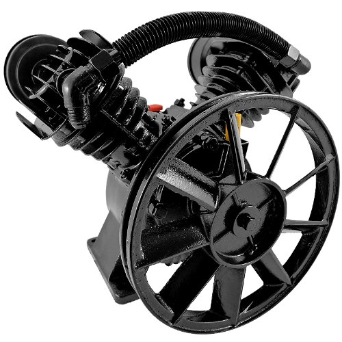 Twin Cylinder Air Compressor Pump V-Type 14.8CFM 1250RPM 3HP Motors Replacement