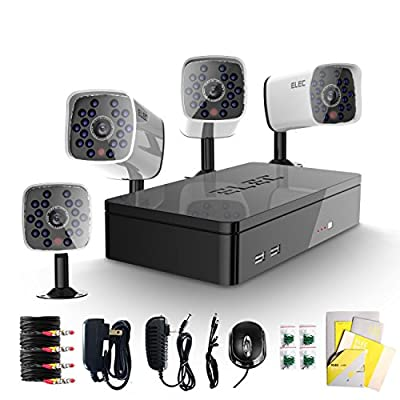 ELEC® New 8 Channel 960H HDMI CCTV DVR with 8 700TVL Day & Night Vision Cameras Surveillance Security Camera System?Mobile e-cloud viewing?P2P Technology, Email Alert?Motion Detection?