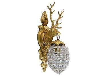 –Lámpara de pared (latón), diseño retro Art Deco Shabby estilo barroco dorado
