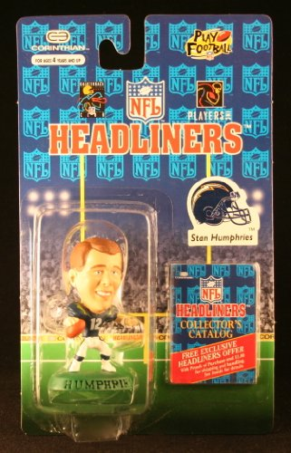 STAN HUMPHRIES / SAN DIEGO CHARGERS * 3 INCH * 1996 NFL Headliners Football Collector Figure