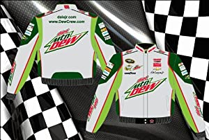 Dale Earnhardt Jr. Diet Mountain Dew Mens Grey Twill 2013 Nascar Jacket by RacingGifts