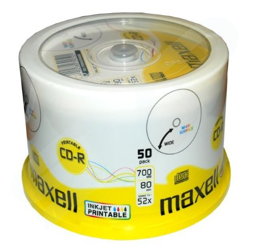 maxell-cd-r-52x-white-full-face-inkjet-printable-surface-50-discs-in-spindle-pack