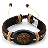 Trendy Celeb Genuine Leather Bracelet - Celtic Knot