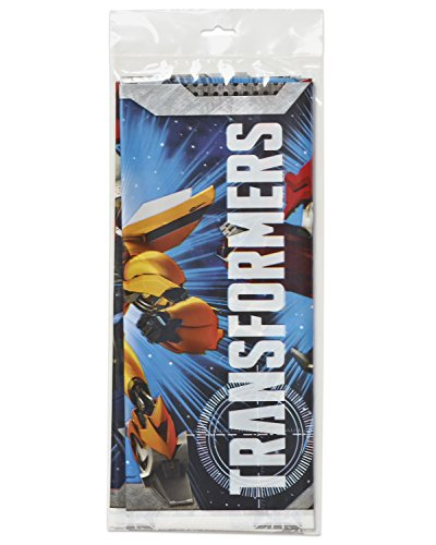 American Greetings Transformers Plastic Table Cover, 54 x 96""