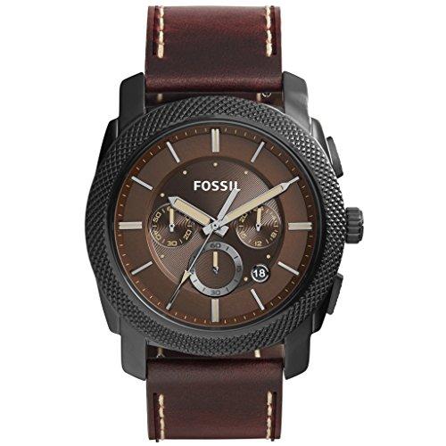 Fossil FS5121 - Reloj con correa de cuero, para hombre, color marrón