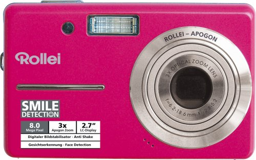 Rollei Compactline 110 10MP Digital Camera - Pink :  digital cameras cheap sale fuji
