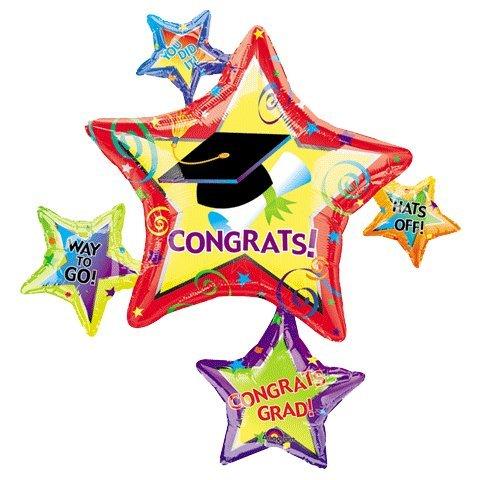 Graduation Star Cluster 44in Balloon - 1