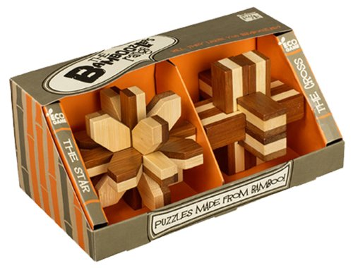 Bamboozler 2 Pc Classic Wooden Puzzle Gift Set