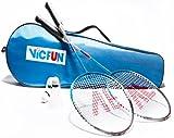Victor VicFun 2er Set Badmintonschläger Federbälle & Tragetasche Badminton