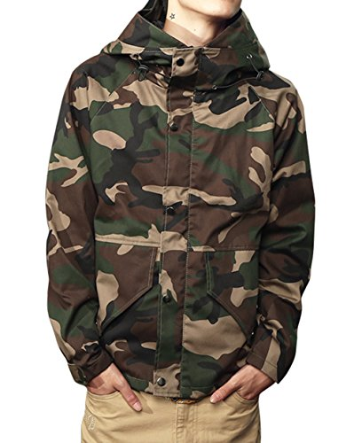 Mada Men's Camouflage Hoodie Military Jacket Zip-up Outdoor Parka Coat Asian XXX-Large (Outdoor Leather Jacket compare prices)