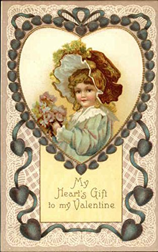 My Heart's Gift to my Valentine Children Original Vintage Postcard