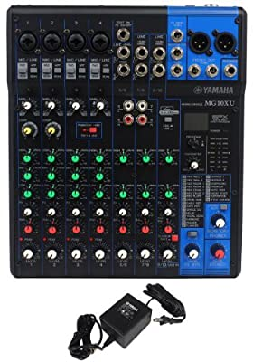 Yamaha MG10XU 7 Channel Compact Mixer with High Grade SPX Effects, 2 In and 2 Out USB Audio Functions, and 4 Mic Pre-Amps by Yamaha