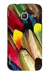 Omnam Colored Leaves Printed Designer Back Cover Case For Samsung Galaxy J1 Ace (J110)