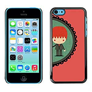 Omega Covers - Snap on Hard Back Case Cover Shell FOR Apple iPhone 5C - Boy Ginger Redhead Teal Peach