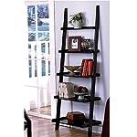 leaning ladder style bookshelf