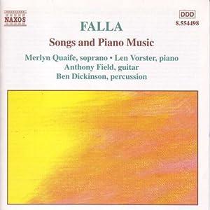 Falla Songs And Piano Music by Naxos