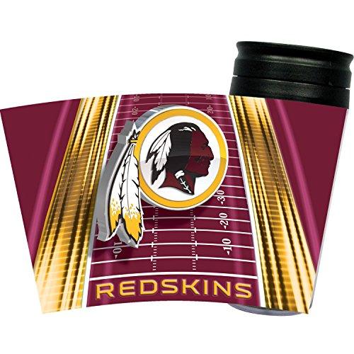 Nfl Football Team Logo Vortex 16 Ounce Acrylic Travel Tumbler Glass - Washington Redskins