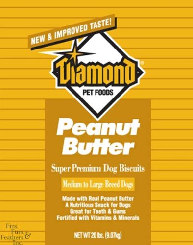 Diamond Dog Biscuits, Gourmet Peanut Butter, 20 Pound Bag