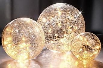 leuchtkugeln in crush optik leuchtkugel 3er set aus glas. Black Bedroom Furniture Sets. Home Design Ideas