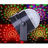 Bola giratoria Supertech mágica de cristal, con cambio de colores de 3W RGB, efecto de iluminación LED para KTV, navidad, bodas presentaciones, club y Dj en la disco