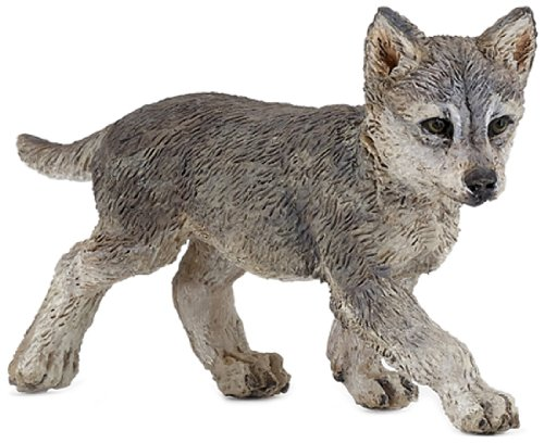 Papo Wolf Cub Toy Figure - 1
