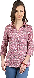 Amadeo Women's 3/4 th Sleeve Shirt (KRISHA04, Pink, Medium)