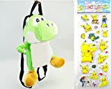 Nintendo Super Mario Plush Toy - Green Yoshi Plush Backpack Around 36cm 14