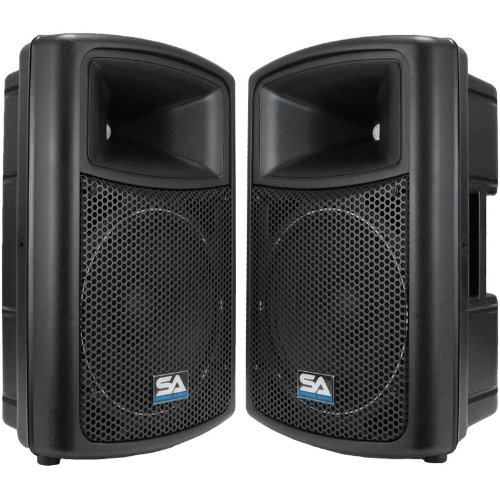 Seismic Audio Nps-12Pr Pro Audio Pa Dj 12-Inch Speakers - Lightweight Molded Cabinets - 325 Watts