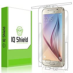 IQ Shield LiQuidSkin - Samsung Galaxy S6 Screen Protector + Full Body (Front & Back) with Lifetime Replacement Warranty - High Definition (HD) Ultra Clear Smart Film - Premium Protective Screen Guard - Extremely Smooth / Self