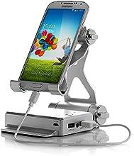 Poweradd Hohe Kapazität 10400mAh Externer Akku Mobiler Akku mit Doppel Ausgangsschüse,Halter Ständer und LED Lampe für Handys und Tablets